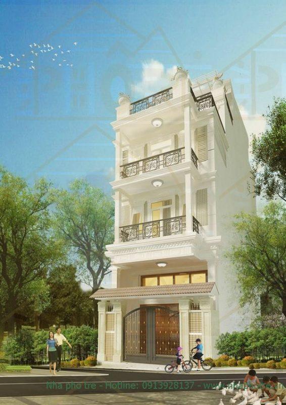 Mẫu villa cổ điển